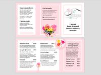 Terrace Flower Shop: Trifold Brochure