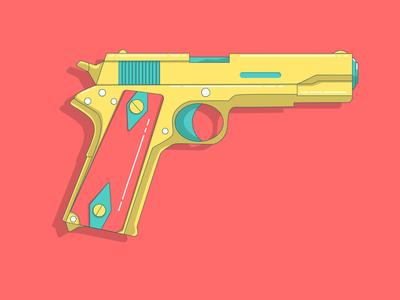 Gun weapon sidearms pop colors style