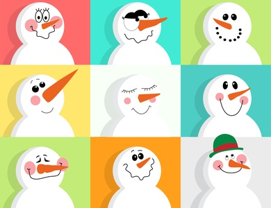 Snowman Emoticon Pack