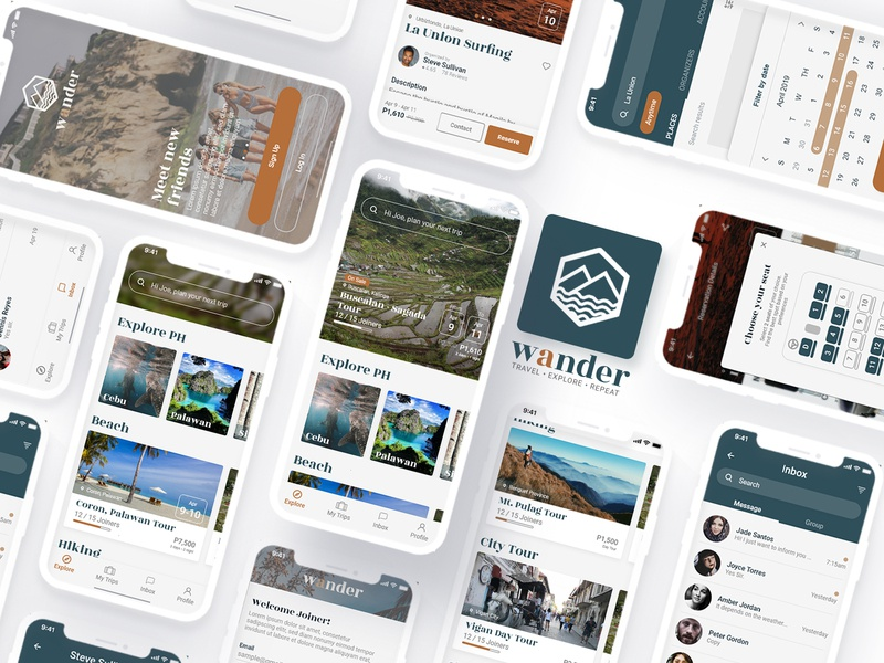 Travel Mobile App Design ui8 product designer travell app ux uidesign mobile ui application app mobile app ui
