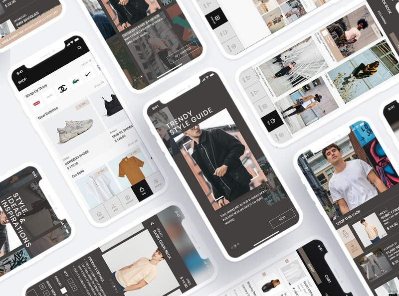 Fashion Lookbook E-commerce App application appdesign app userinterface uiuxdesign uiux dribbble interfacedesign dailyui uidesign