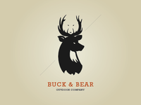 Buck & Bear Logo Design