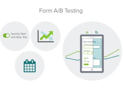 Form A/B Testing Illustrations formstack