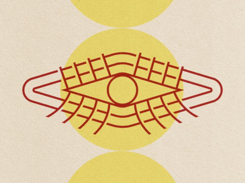 Geometric Eye vintage eyes icon illustration