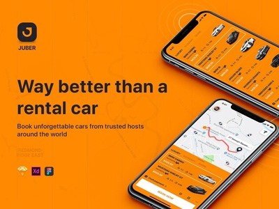 JUBER - Car rental mobile UI Kit