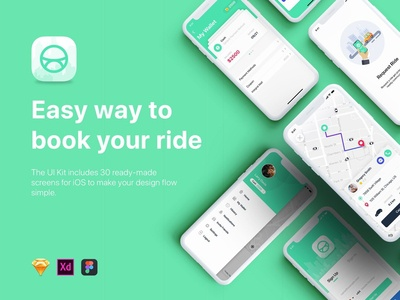 Taxi Booking App UI Kit