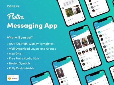 Flutter Messaging App UI Kit