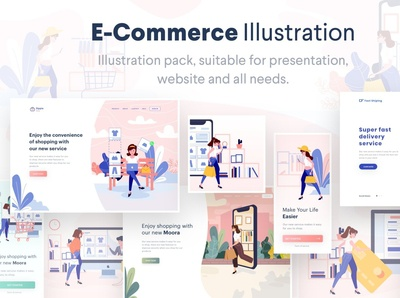 Lunas : E-Commerce Illustration Pack