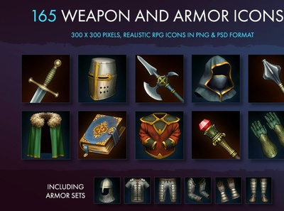 Weapon Armor And Equipment Icons