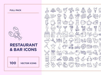 Food & Drinks Icons Set