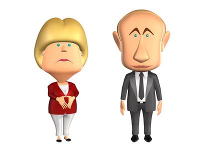 Angela Merkel - Vladimir Putin