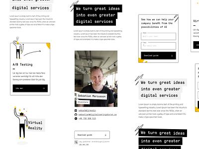 Digitaliseringsbyrån Site Design prototyping gt pressura mono redesign