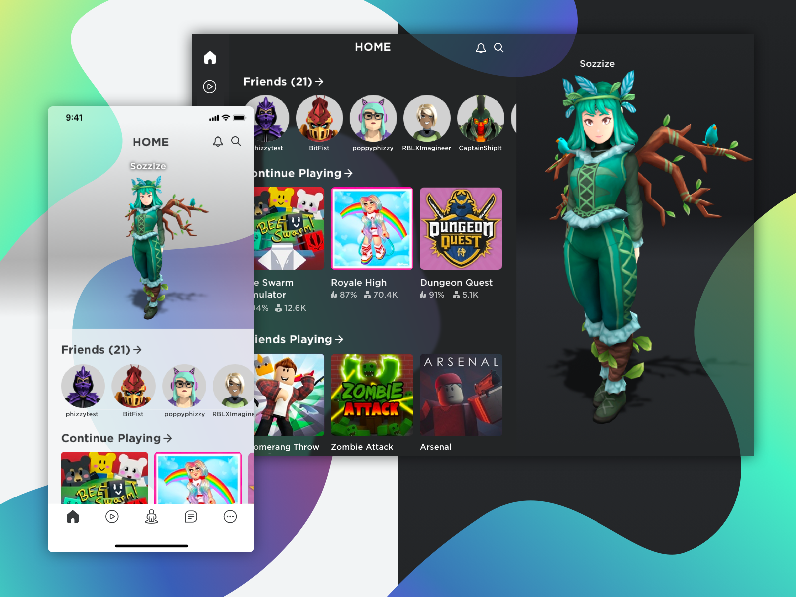 Roblox Dark And Light Modes By Phylissa Li On Dribbble