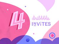 (Ended) 4 Dribbble Invites