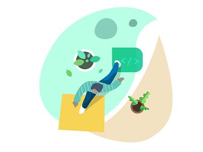 Being a designer vector designer design illustration