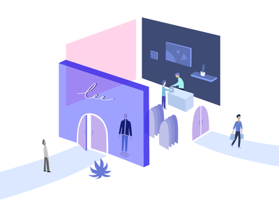 Experience experience shopping store illustration