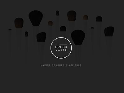 Brushmaker Splash web design website web splash
