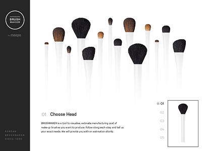 Choose Head Shape cosmetic process wizard web design website
