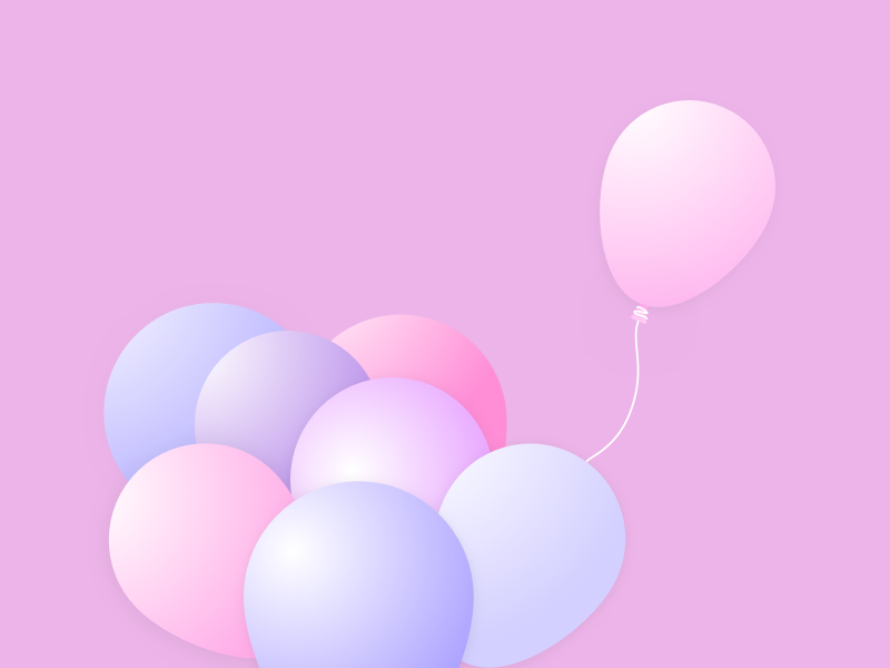 Churn Management isolation business saas graphic illustration color minimal pink churn concept balloon