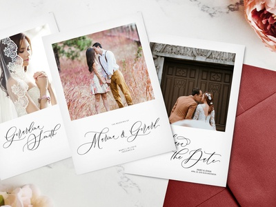Invitation Made with Boutinela Script Font