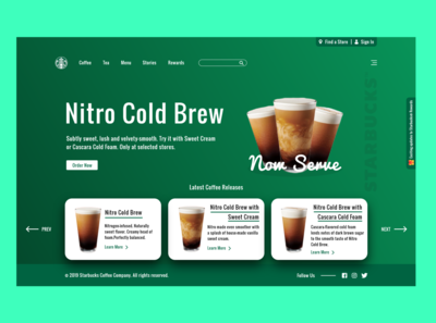 Starbucks Redesign Concept | Modern Website