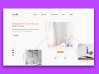 Furniture Website | Web Design Concept