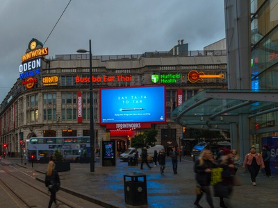 Blu digital billboard