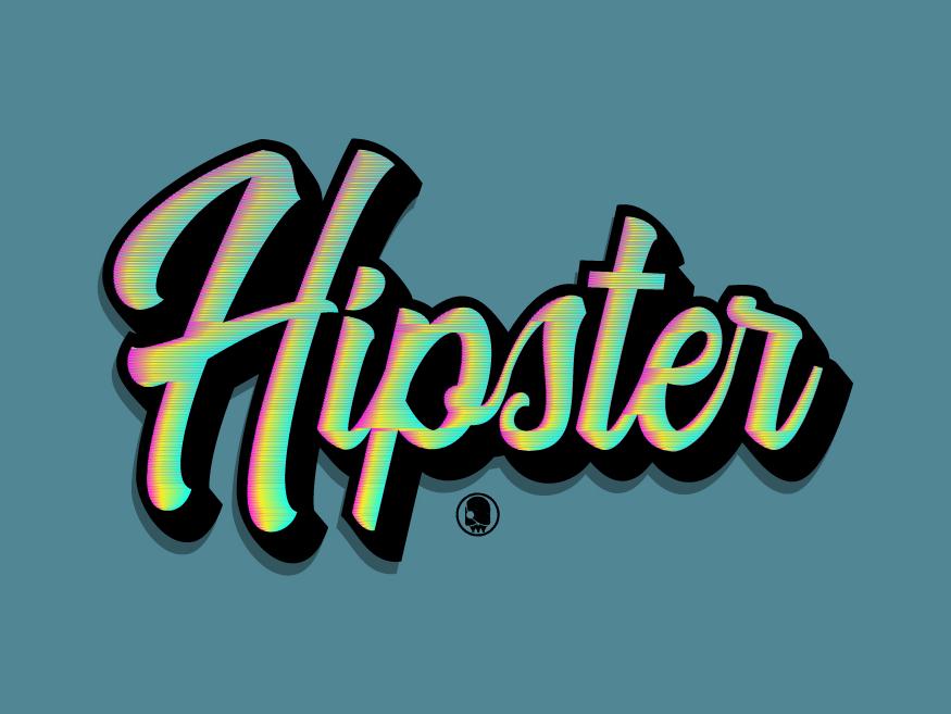 Hipster vector handwriting letterpress illustration handmade football branding hand drawn logotype