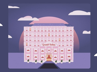 Grand Today architecture figma illustration today hotel grand budapest hotel budapest