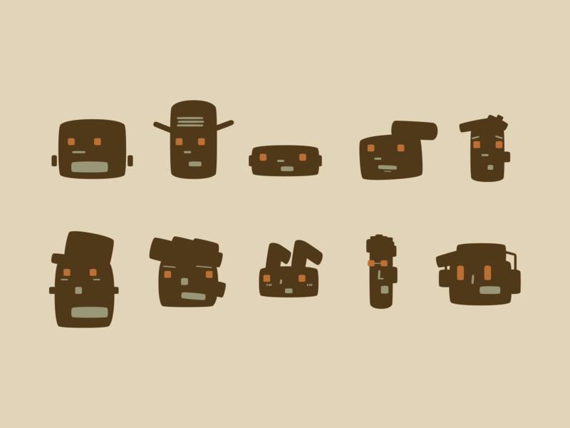 Single shape characters