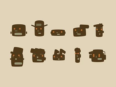 Single shape characters figma shape face abstract character illustration