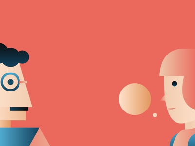 Gradient Exploration 2 - Character character modern illustration gradient enlighten connect