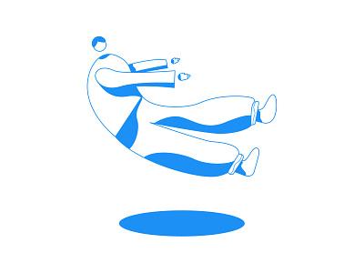 Universe - Remake floating illustrator abstract character avatar illustration