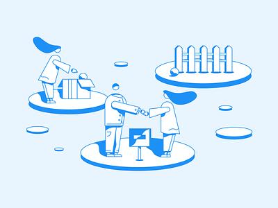 Loop real estate illustrator abstract character avatar illustration