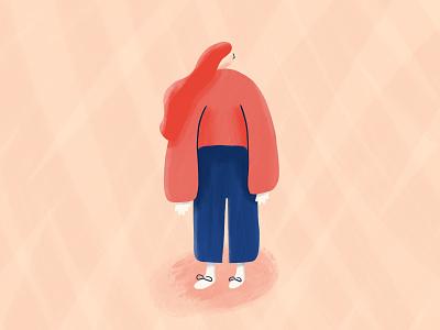 Wonder mood hair bomb illustrator abstract character avatar illustration