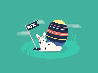 Easter flag holiday illustrator rabbit bunny illustration easter egg easter bunny easter