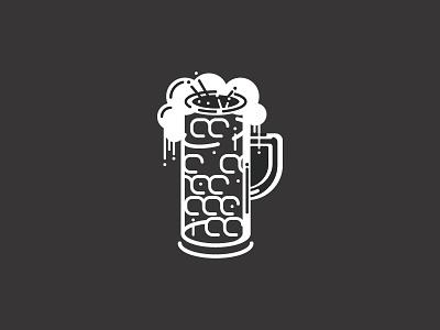 Beer mug abstract illustration drip bubble german beer glass
