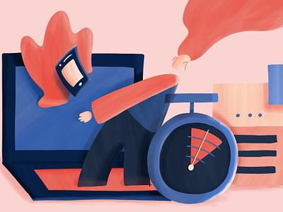 Design documentation notion productivity time avatar illustration documentation design
