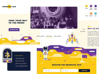 Style Tiles kids code spaceship space palette scheme colours typography tiles web webdesign illustration moodboard style moonhack