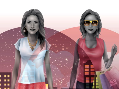 Shopping Gals Day & Night -close up-