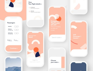 Mobile Application - Modern Flight Booking App uxdesign uxui ui mobile mobile app app design colours minimal mobile app design mobile design product design clean application design app