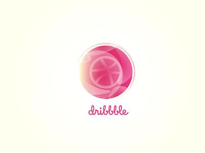 Hello Dribble! graphic design graphic gradient design gradient color gradient icon gradient hello hellodribble dribble icon vector ui logo design illustration