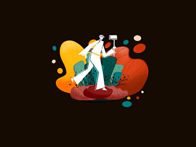 City Tour selfie procreate art procreate illustrator travelling travel city tour city illustration app illustrator city drawing digital painting digital illustration digitalart illustration graphic design gradient