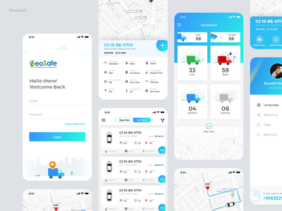 Geo Safe :: Transport Tracking System web ux user inteface user experience ui schedule patients mobile logistics iphonex ios courier delivery tracking transport design dashboad application app