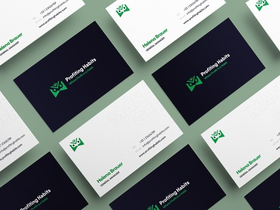 Profiting Habits reBranding businesscard word mark typography typeface onexcell logo design logo identity forex exploration color pallet brand strategy branding agency brand identity design brand agency brand