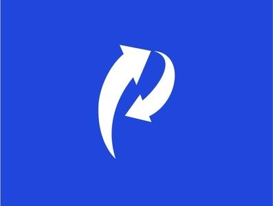 logo p + arrow