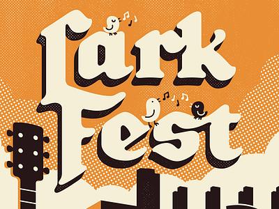 LarkFest 2017 lark fest poster hand lettering lettering illustration