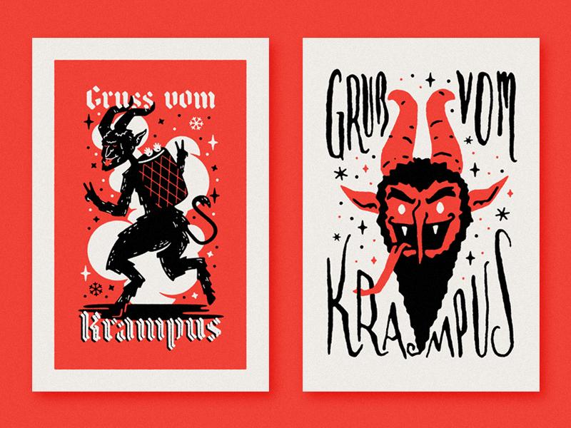 Gruss vom Krampus 2: Electric Boogaloo! by Zach Higgins | Dribbble ...