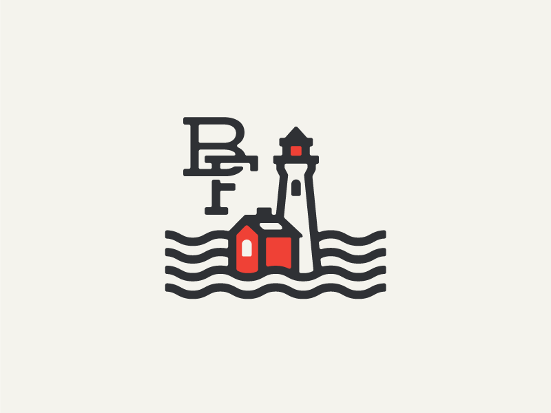 Black Fog monoweight identity branding lighthouse illustration monogram roaster coffee