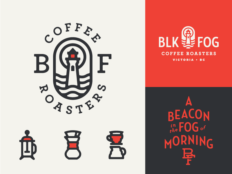 Black Fog II roaster monoweight logo identity coffee roaster coffee branding